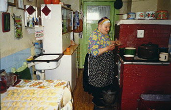 Great-aunt Katya in her kitchen