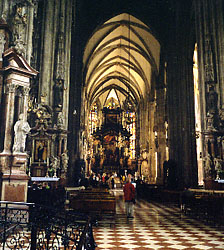 Interior of Stephansdom