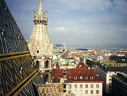 View from Stephansdom bell tower